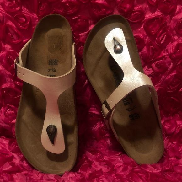 279db21e1 Birkenstock Shoes - Birkenstock Gizeh Birko-Flor Leather Sandal